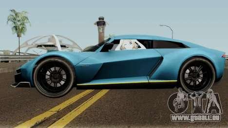 Rezvani Beast Alpha pour GTA San Andreas laissé vue