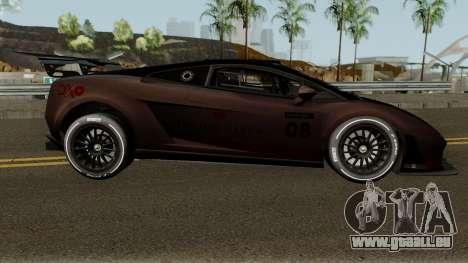 Lamborghini Gallardo LP 560-4 GT3 2012 pour GTA San Andreas vue arrière