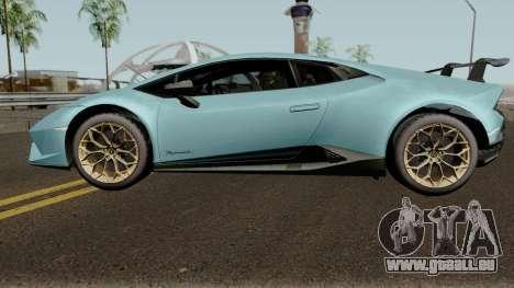 Lamborghini Huracan Perfomante 2017 für GTA San Andreas linke Ansicht