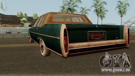 Cadillac Fleetwood Beaten 1985 v1 pour GTA San Andreas sur la vue arrière gauche