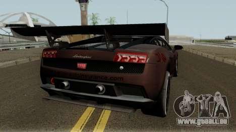 Lamborghini Gallardo LP 560-4 GT3 2012 pour GTA San Andreas vue de droite