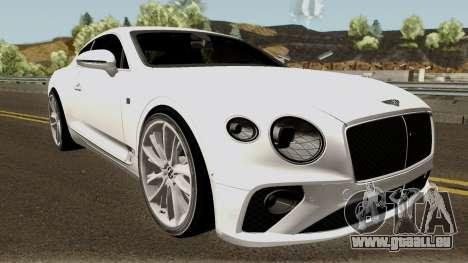 Bentley Continental GT First Edition 2018 pour GTA San Andreas vue intérieure