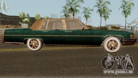 Cadillac Fleetwood Beaten 1985 v1 pour GTA San Andreas vue arrière