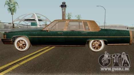 Cadillac Fleetwood Beaten 1985 v1 pour GTA San Andreas laissé vue