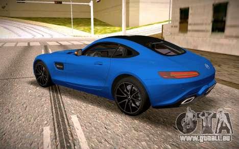 Mercedes-Benz GTS pour GTA San Andreas sur la vue arrière gauche