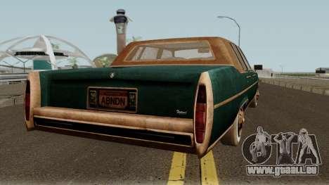 Cadillac Fleetwood Beaten 1985 v1 pour GTA San Andreas vue de droite
