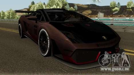 Lamborghini Gallardo LP 560-4 GT3 2012 pour GTA San Andreas vue intérieure