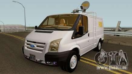 Ford Transit News Car (FOX TV) für GTA San Andreas