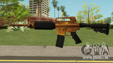 Golden M4A1 HQ für GTA San Andreas