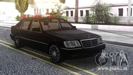 Mercedes-Benz W140 Black pour GTA San Andreas