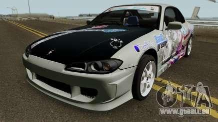 Nissan Silvia S15 Itasha Sayo and Lisa 2000 pour GTA San Andreas
