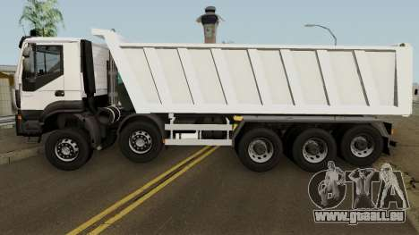 Iveco Trakker Dumper 10x4 für GTA San Andreas linke Ansicht