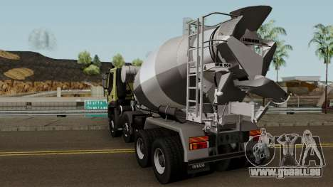 Iveco Trakker Cement 8x4 für GTA San Andreas zurück linke Ansicht