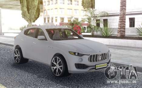 Maserati Levante pour GTA San Andreas vue arrière