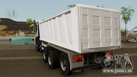 Iveco Trakker Dumper 10x4 für GTA San Andreas zurück linke Ansicht