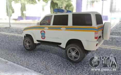UAZ Patriot-MES für GTA San Andreas rechten Ansicht