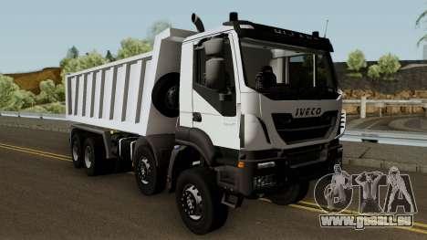 Iveco Trakker Dumper 10x4 für GTA San Andreas Innenansicht