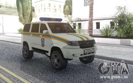 UAZ Patriot-MES für GTA San Andreas Rückansicht