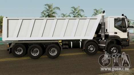 Iveco Trakker Dumper 10x4 für GTA San Andreas Rückansicht