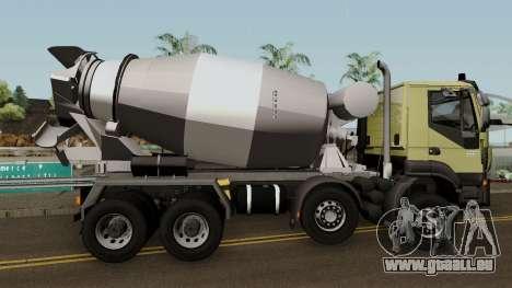 Iveco Trakker Cement 8x4 für GTA San Andreas Rückansicht