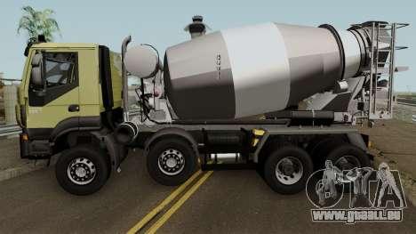 Iveco Trakker Cement 8x4 für GTA San Andreas linke Ansicht