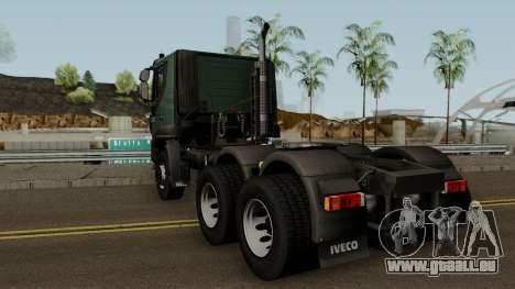 Iveco Trakker Cab Low 6x4 für GTA San Andreas zurück linke Ansicht