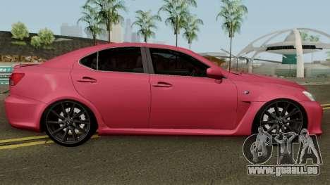 Lexus IS-F 2011 pour GTA San Andreas vue arrière