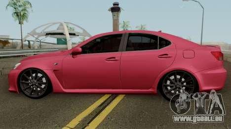 Lexus IS-F 2011 pour GTA San Andreas laissé vue