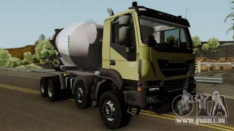 Iveco Trakker Cement 8x4 für GTA San Andreas Innenansicht