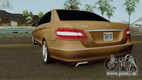Mercedes-Benz E500 für GTA San Andreas zurück linke Ansicht