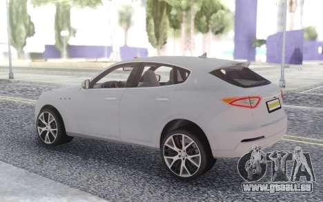 Maserati Levante pour GTA San Andreas laissé vue