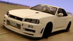 Nissan Skyline GT-R BNR34 Mid Night für GTA San Andreas