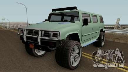 Mammoth Patriot Custom v2 GTA V IVF für GTA San Andreas