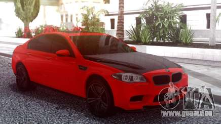 BMW M5 F10 Red pour GTA San Andreas