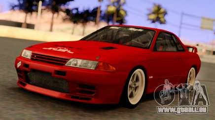 Nissan Skyline GT-R BNR32 TBK Red für GTA San Andreas