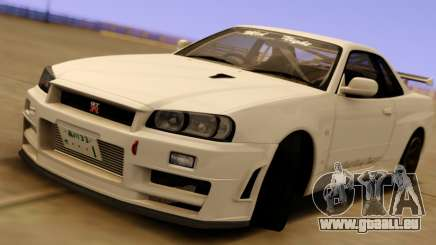 Nissan Skyline GT-R BNR34 Mid Night pour GTA San Andreas
