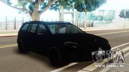 Mercedes-Benz GL63 Pure Black pour GTA San Andreas