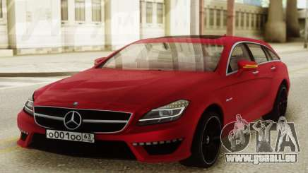 Mercedes-Benz CLS63 AMG Red für GTA San Andreas