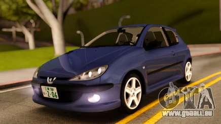 Peugeot 206 RC Blue Color pour GTA San Andreas