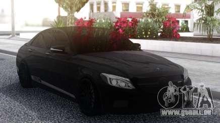 Mercedes-Benz C63S Black AMG für GTA San Andreas