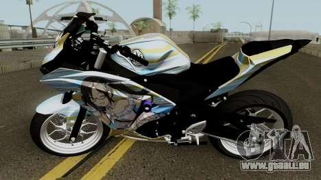 Yamaha R25 Mitsumine Itasha pour GTA San Andreas laissé vue