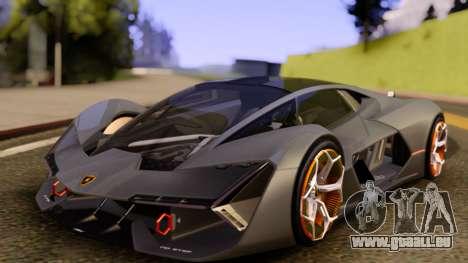 Lamborghini Terzo Millennio 2017 Concept pour GTA San Andreas vue de droite
