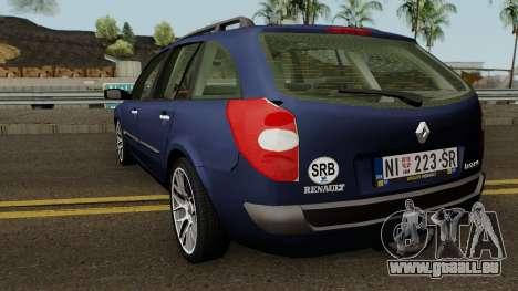 Renault Laguna Mk2 SW Facelift für GTA San Andreas zurück linke Ansicht