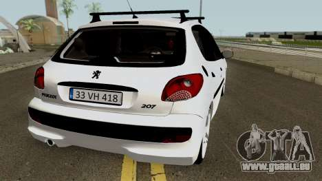 Peugeot 206 2012 pour GTA San Andreas vue de droite