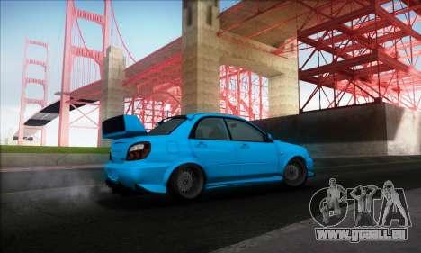 Subaru Impreza WRX STI 2003 LPcars pour GTA San Andreas vue de droite