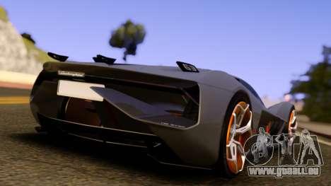 Lamborghini Terzo Millennio 2017 Concept pour GTA San Andreas sur la vue arrière gauche