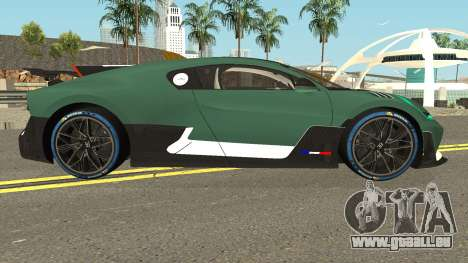 Bugatti Divo 2019 für GTA San Andreas Rückansicht