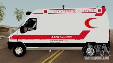 Fiat Ducato 2005 Turkish Ambulance für GTA San Andreas linke Ansicht