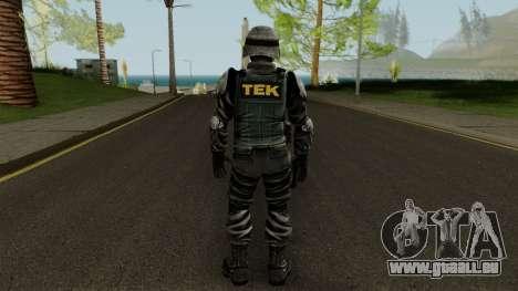 TEK Skin 3 pour GTA San Andreas troisième écran