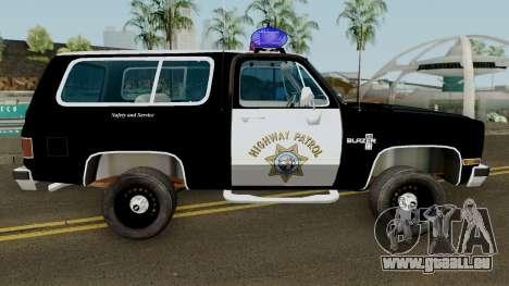 SAHP Chevrolet Blazer 1985 pour GTA San Andreas vue arrière